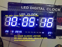Jam Digital CLOCK JH4622 Warna Biru