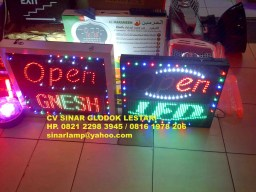 LED Display Open dan Running Text