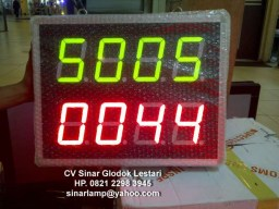Lampu Digital Display Papan Produksi