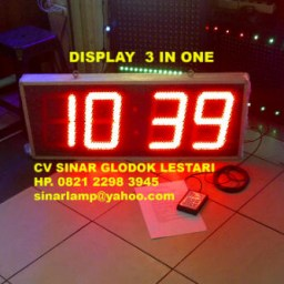 Lampu Display 3 IN ONE Jam Timer Up Countdown