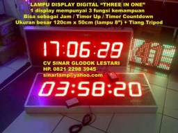 Lampu Display Three in One Clock Timer Up Countdown