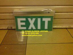 Lampu Emergency EXIT LED A2022 + Battery Emergency Slim