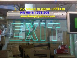 Lampu Emergency EXIT LED Bening