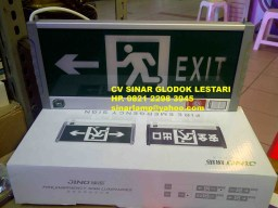 Lampu Emergency Exit LED High Premium