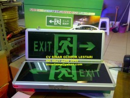 Lampu Fire Emergency Evacuation Sign Luminaires 102