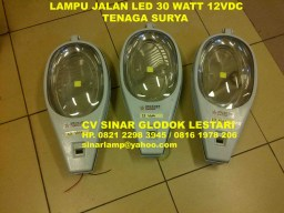 Lampu Jalan LED Solar Cell 30W 12V