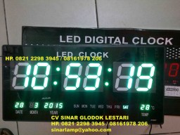 Lampu LED Digital CLOCK Warna Hijau JH4622