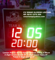 Lampu LED Display Scoring Board Futsal