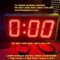 Lampu LED Display TIMER Countdown Super Bright