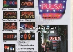 Lampu LED SIGN atau Lampu papan BAR