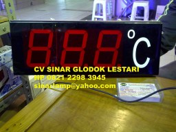 Lampu Papan Display Temperatur Suhu
