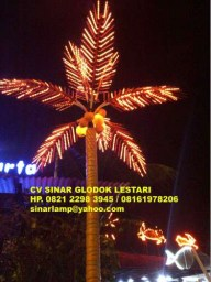 Lampu Pohon Kelapa Decorative Lighting Project