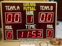 Lampu Scoring Board Futsal Display Futsal