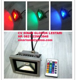 Lampu Sorot Panggung Led RGB Plus Remote