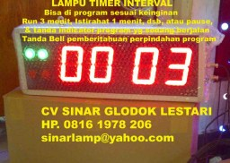 Lampu Timer Interval Display