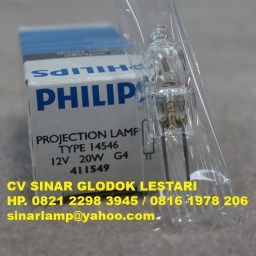 Lampu Halogen Projection Lamp 12V 20w Philips 14546