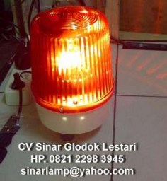 Lampu rotary warning light 6 inch