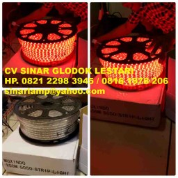 Lampu LED Strip 5050 100m warna Merah