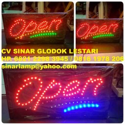 Lampu Open atau LED Sign Open