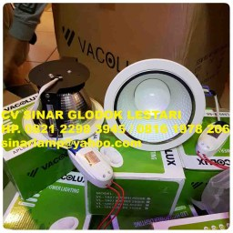 Downlight LED Vacolux 9 watt VL1807 WH 6500K