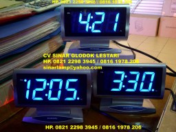 Jam Digital Biru 815 Snooze