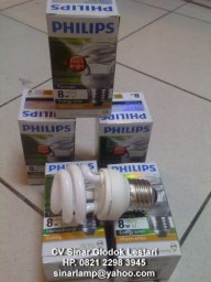 Lampu Philips Tornado 8 watt