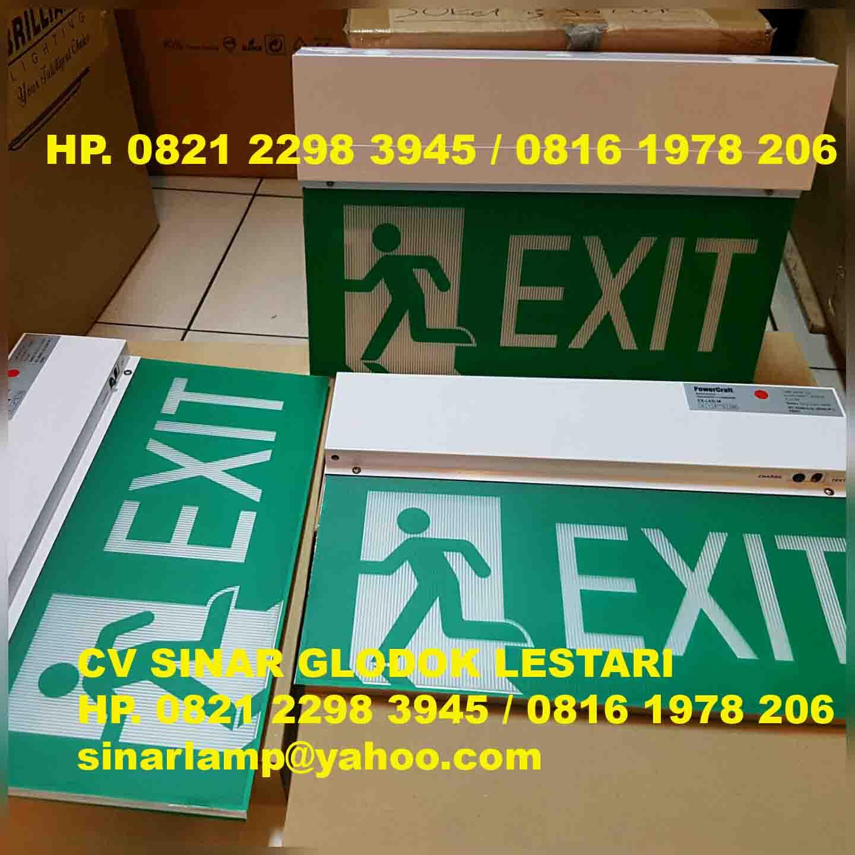 Lampu Emergency Exit Powercraf EX-LED-M