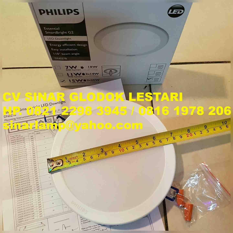 Downlight Led Philips 15 Watt Dn027b Lampu 8w