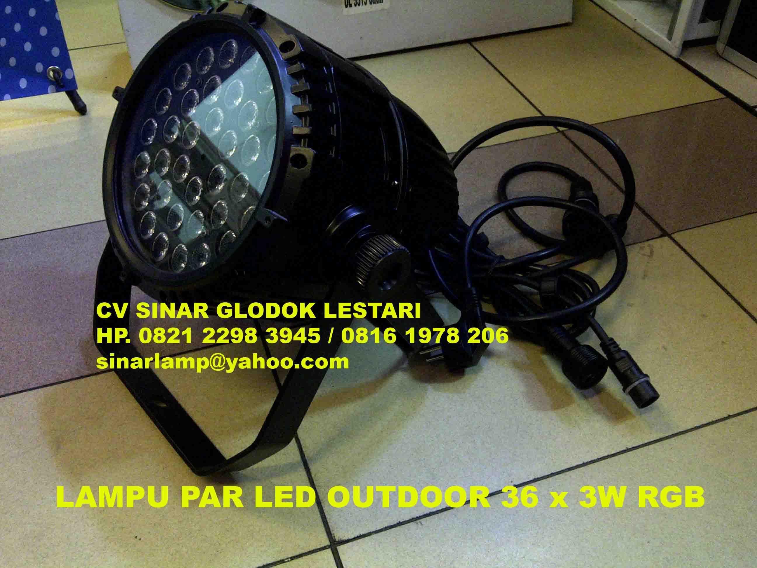Lampu Sorot PAR LED 36 X 3W Outdoor