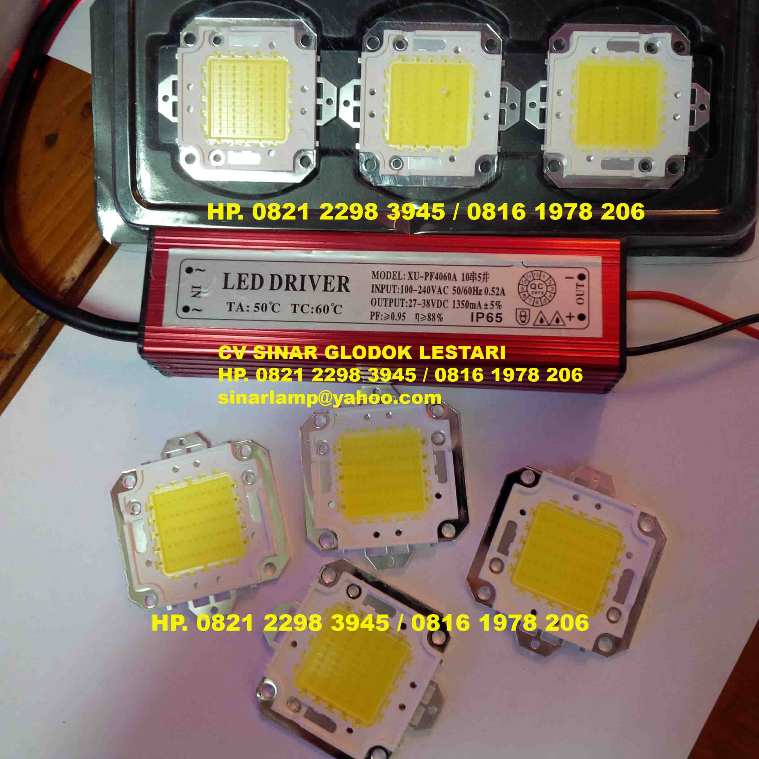 Komponen Lampu Lampu Led Chip 50 Watt Dan Trafo Led