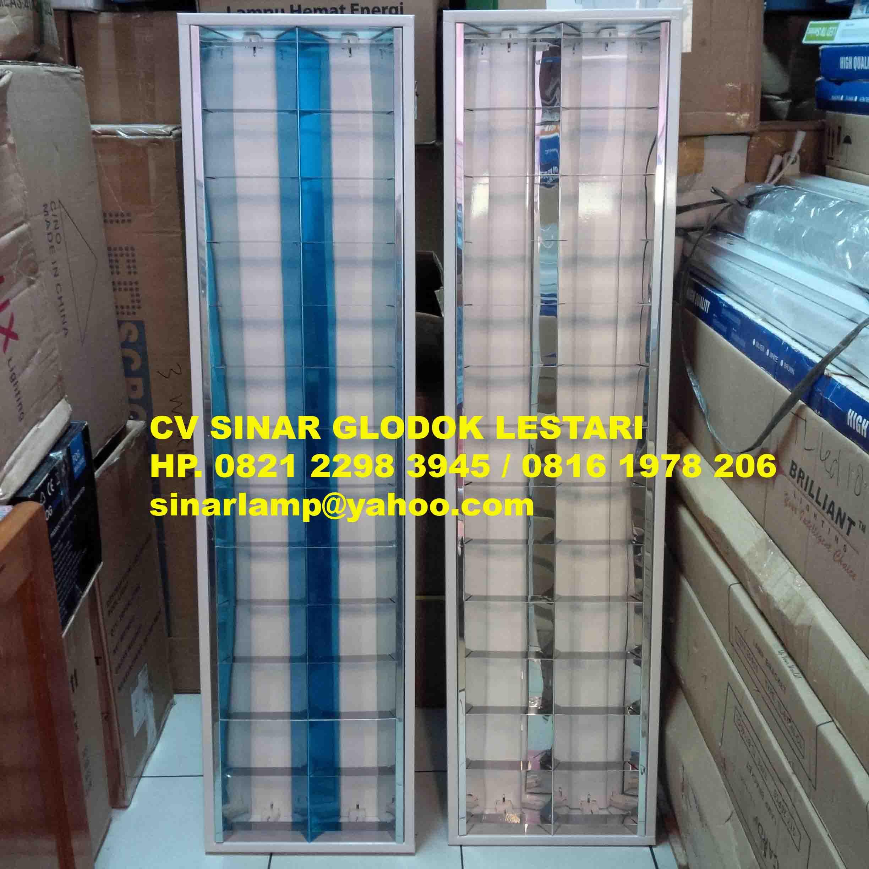 Lampu RM 2x36 Watt Stainless Mirror