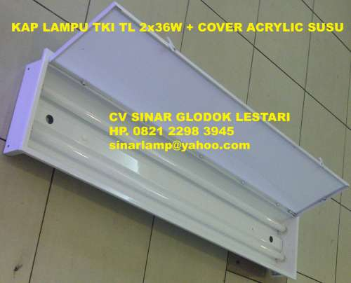 Kap Lampu TL Kap Lampu TKI TL Neon 2 X 36W Cover