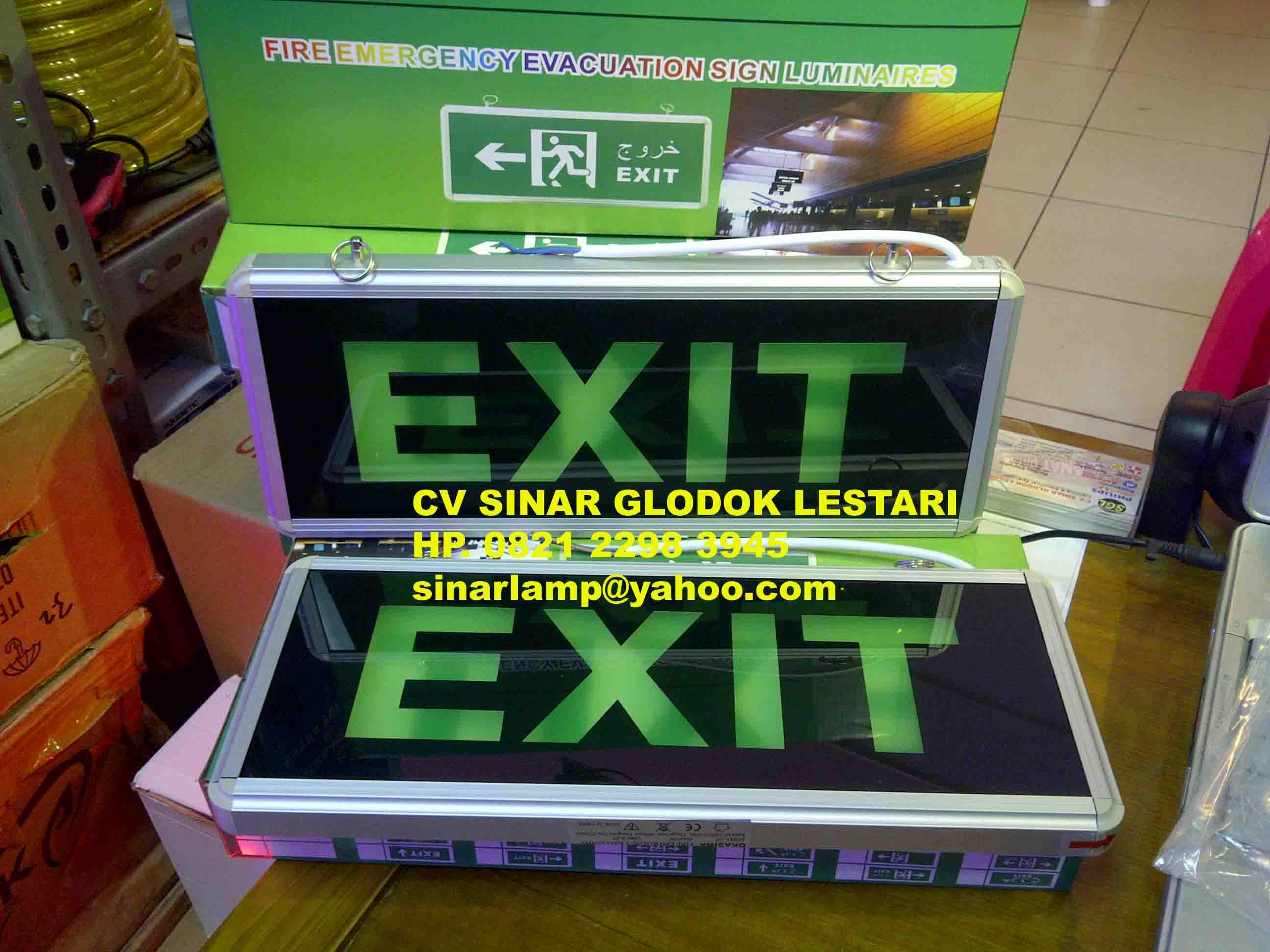Lampu Emergency Exit Led Fire Evacuation Sign 101 Ikan Hias Air Luminaires