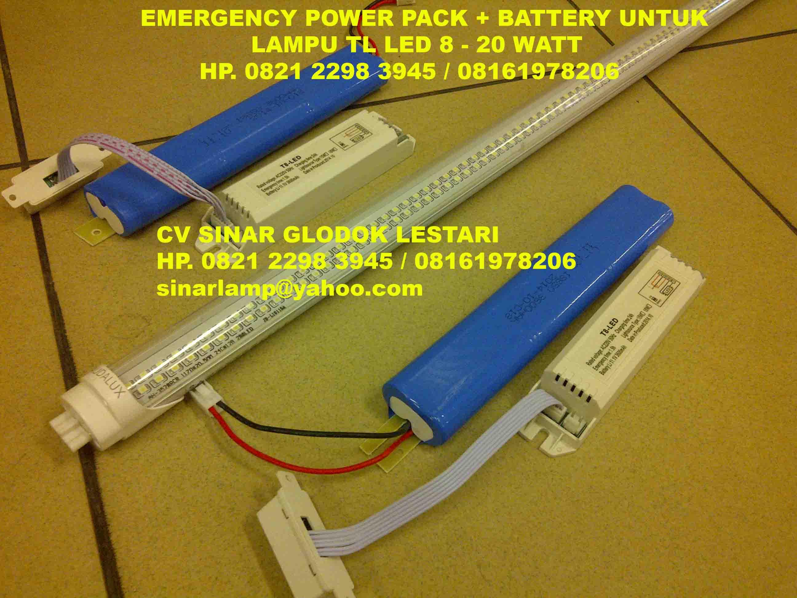 lampu emergency exit lampu emergency powerpack kit tl led 18w rh sinarglodok com 40 Watt Harga Lampu TL Lampu Bulat TL