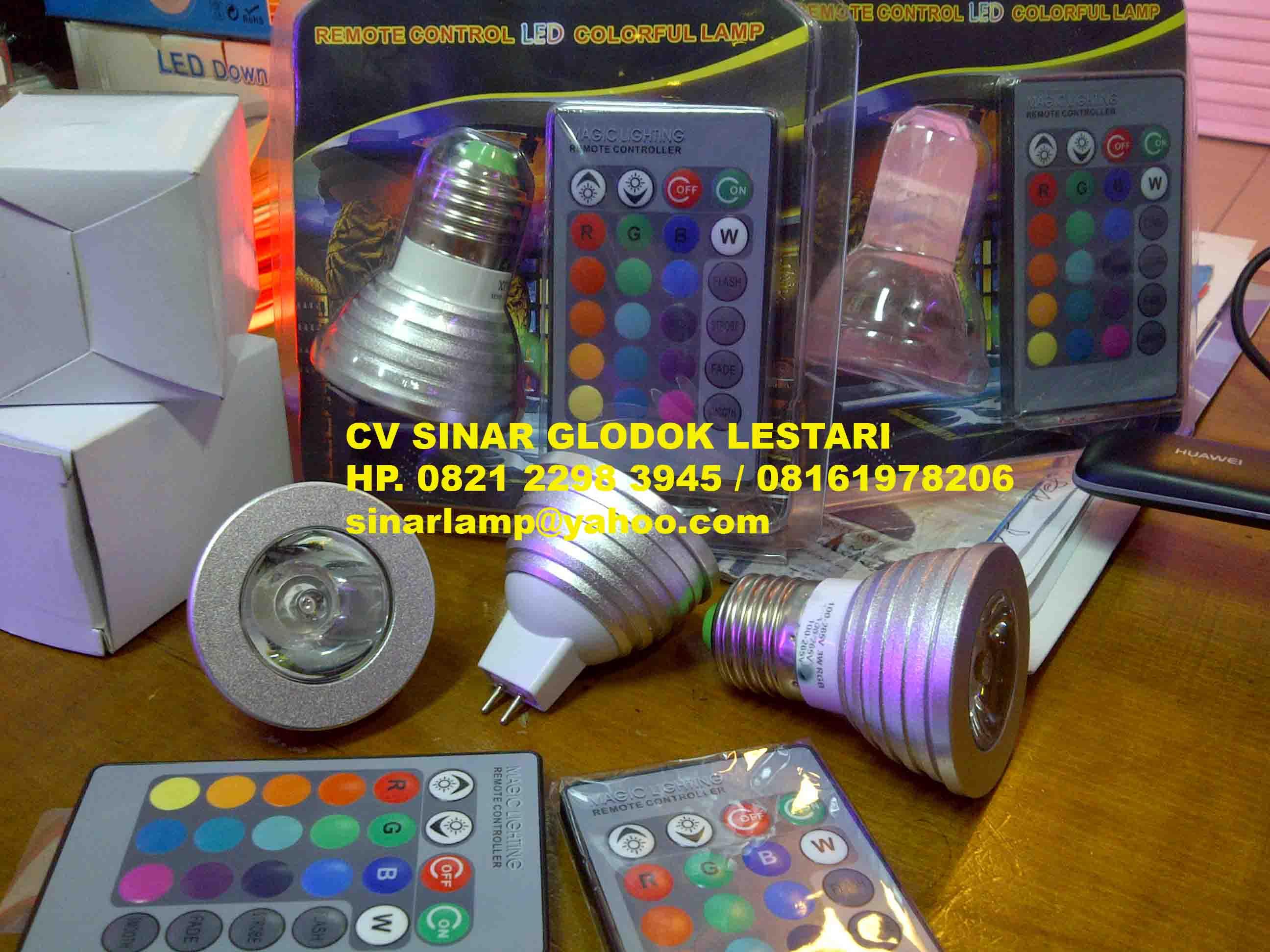 Aneka Lampu Led Lampu Led 3w Rgb Colorfull Remote Control