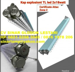 Lampu Explosion Proof TL LED 2 x 18watt C Attac Zona 2
