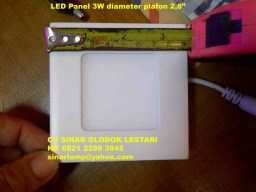 Downlight LED Panel 3W Square Super Bright