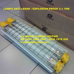 Lampu Anti Ledak Explosion Proof TL 2 x 18 Watt