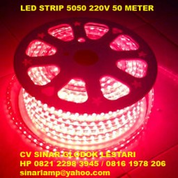 Lampu Strips LED SMD 5050 Kotak 220V IP67